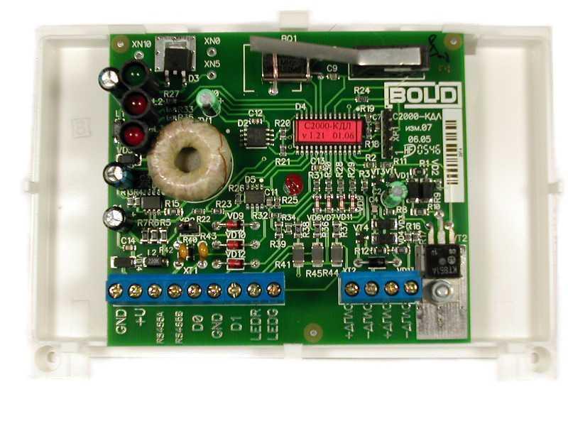 Контроллер двухпроводной линии связи С2000-КДЛ.  Вернуться Следующее фото.